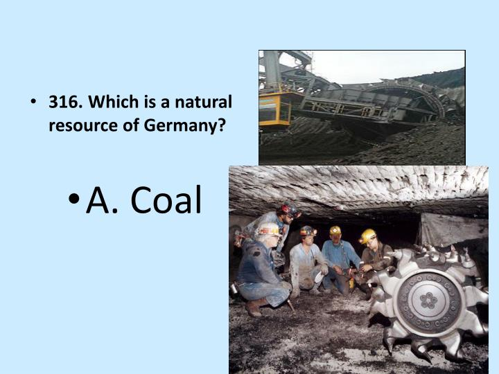 316. Which is a natural resource of Germany?