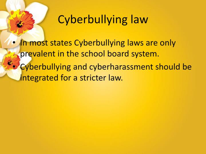 Cyberbullying law