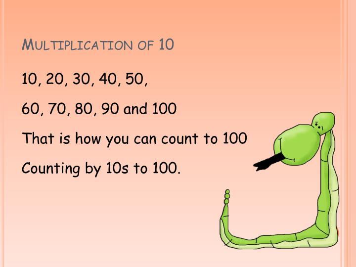 Multiplication of 10