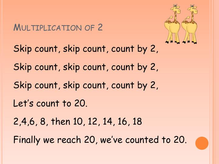 Multiplication of 2