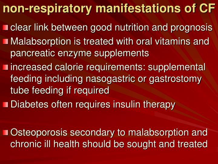 non-respiratory manifestations of CF