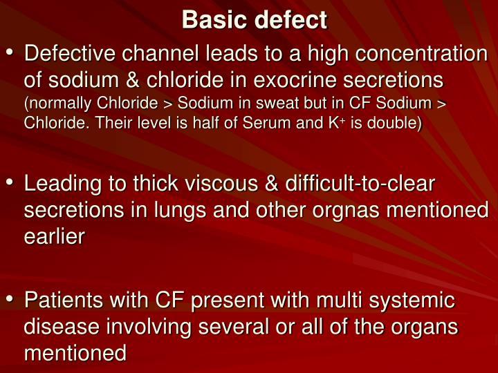 Basic defect