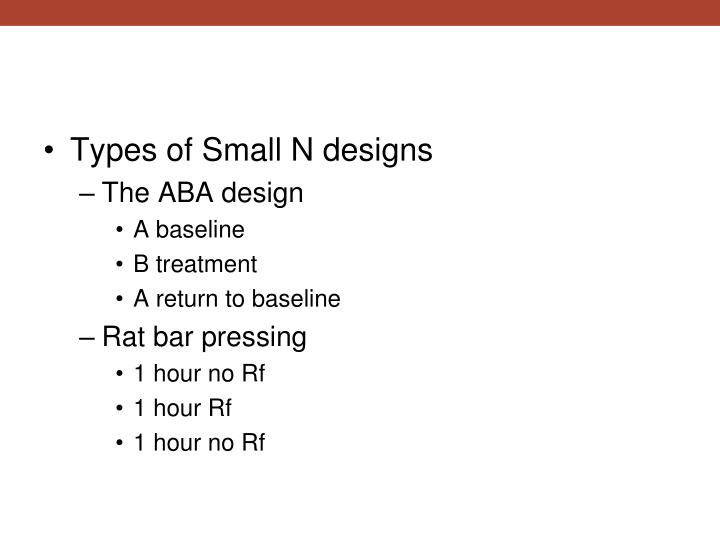 Types of Small N designs