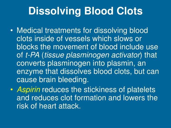 Dissolving Blood Clots