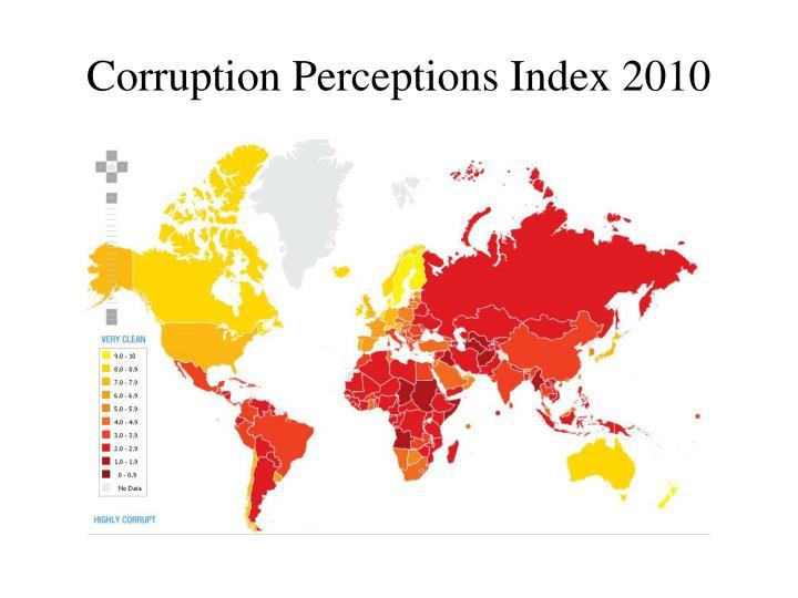 Corruption Perceptions Index 2010