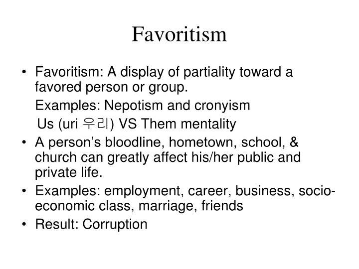 Favoritism