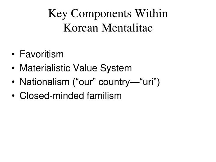 Key Components Within