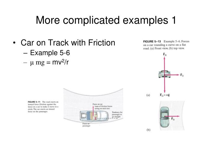 More complicated examples 1