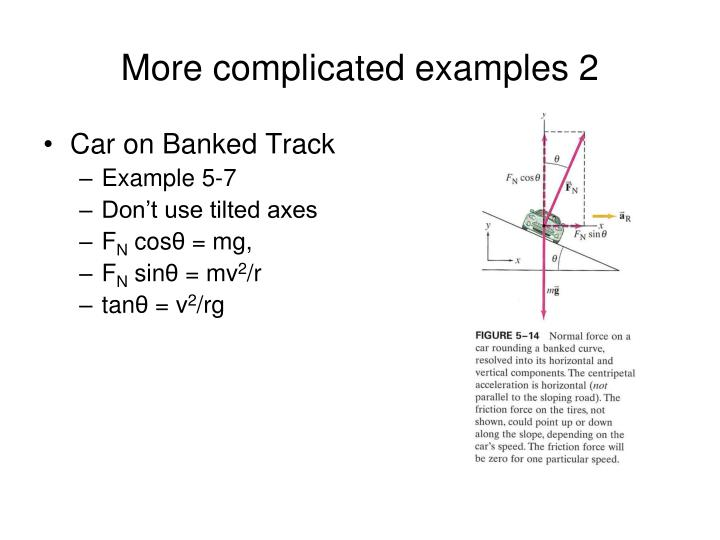More complicated examples 2