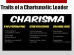 traits of a charismatic leader