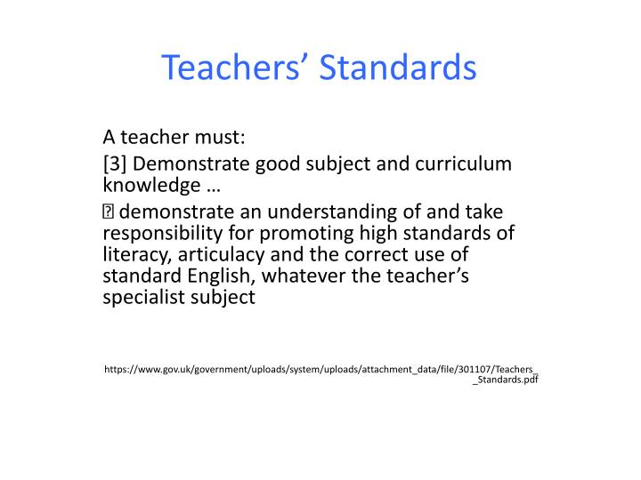 Teachers standards