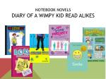 notebook novels diary of a wimpy kid read alikes