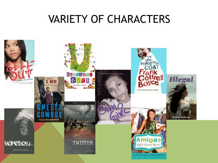 Variety of Characters