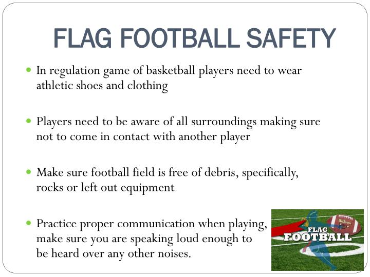 FLAG FOOTBALL SAFETY
