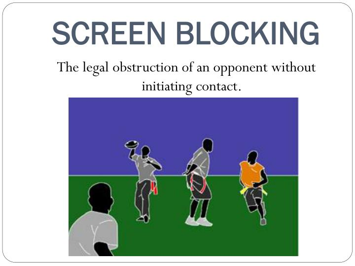 SCREEN BLOCKING