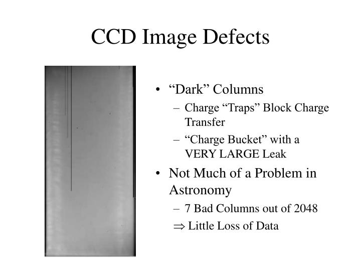 CCD Image Defects