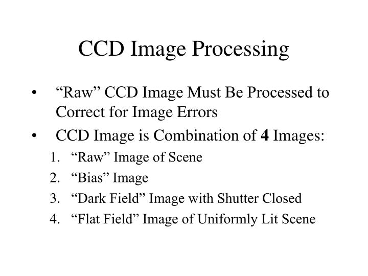 CCD Image Processing