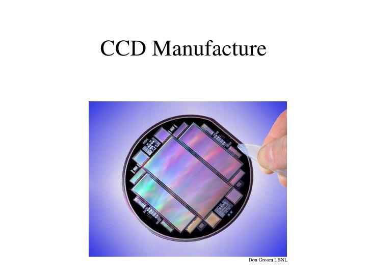 CCD Manufacture