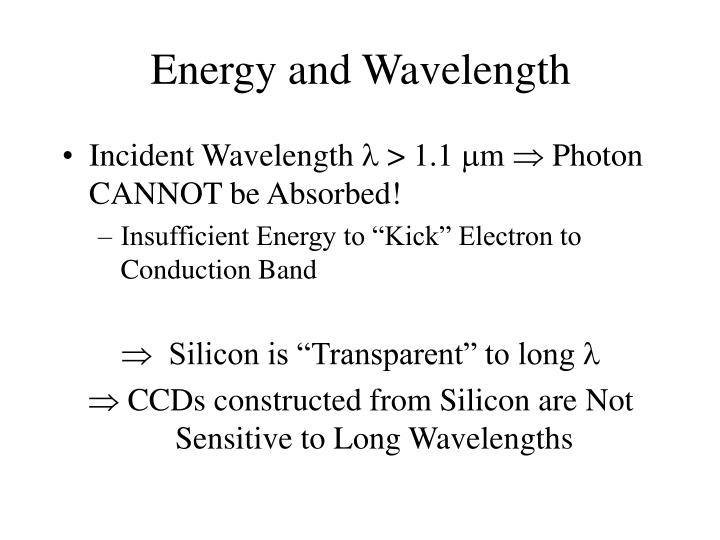 Energy and Wavelength