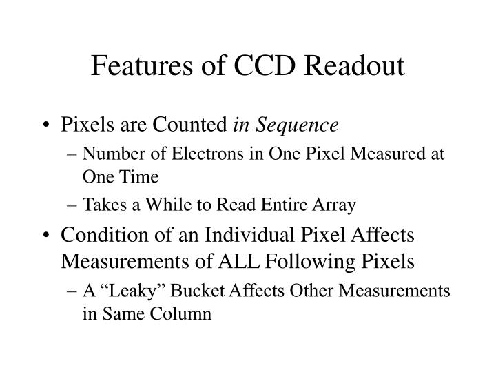 Features of CCD Readout