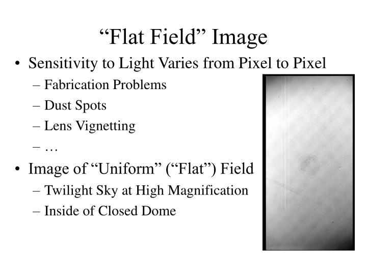 """Flat Field"" Image"