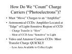 how do we count charge carriers photoelectrons