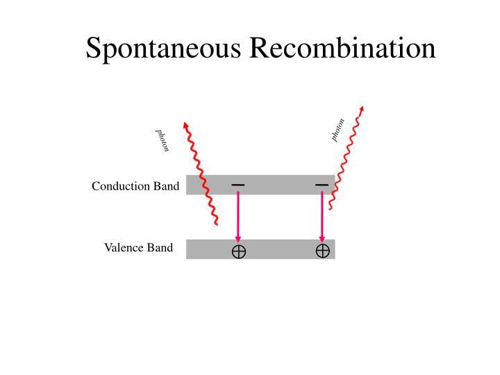 Spontaneous Recombination
