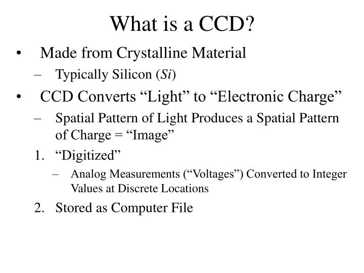 What is a CCD?