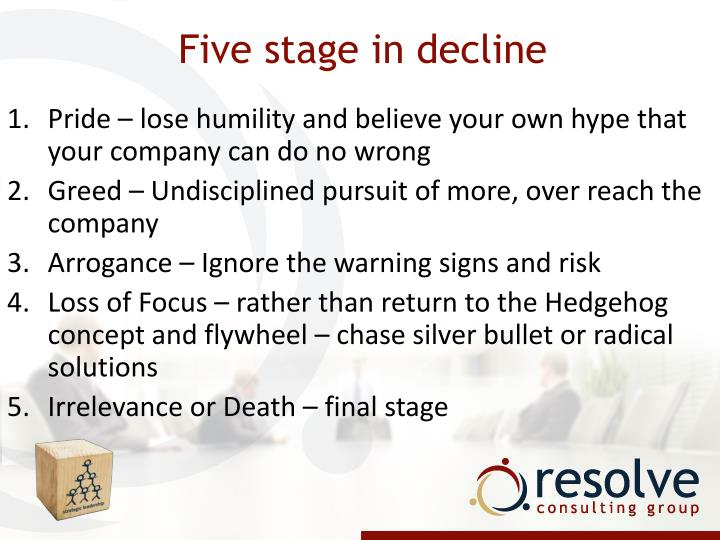 Five stage in decline