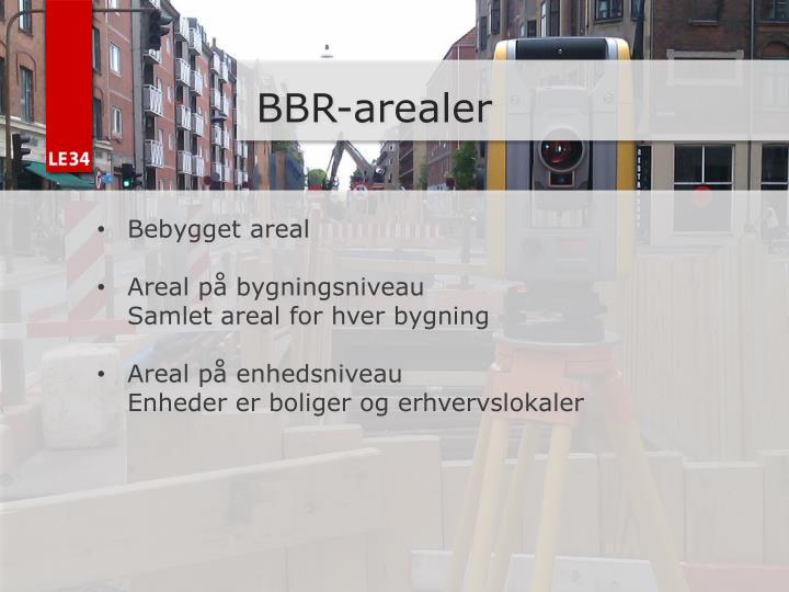 BBR-arealer