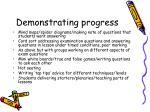 demonstrating progress1