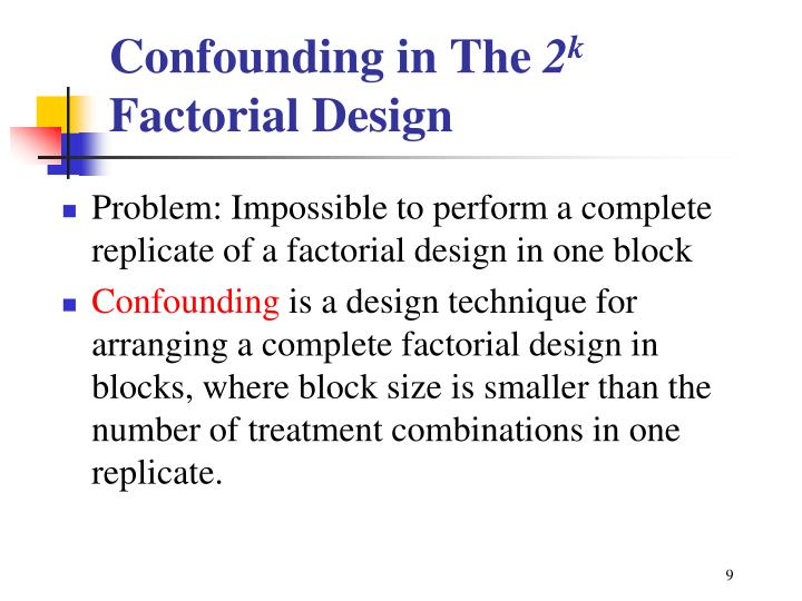 Confounding in