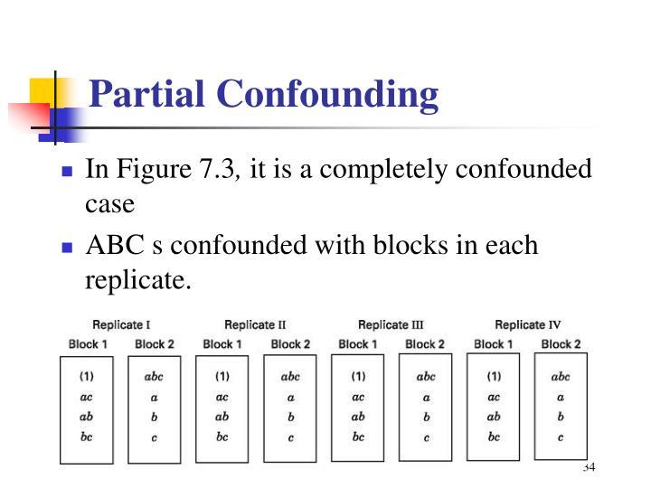 Partial Confounding