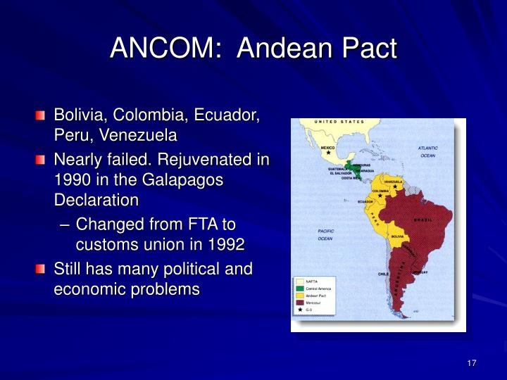ANCOM:  Andean Pact