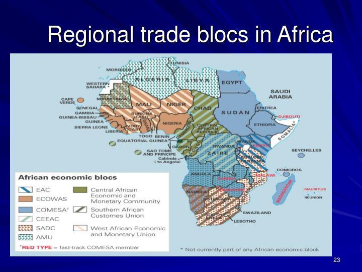 Regional trade blocs in Africa