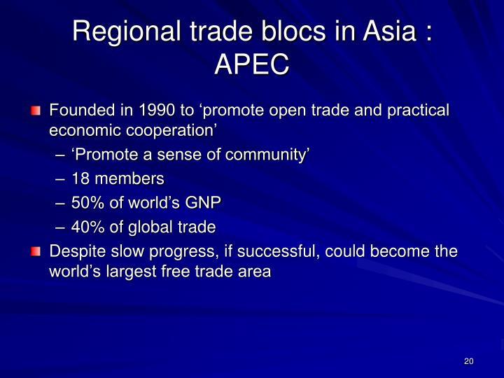 Regional trade blocs in Asia : APEC