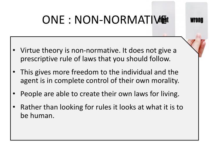 ONE : NON-NORMATIVE