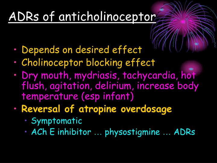 ADRs of anticholinoceptor