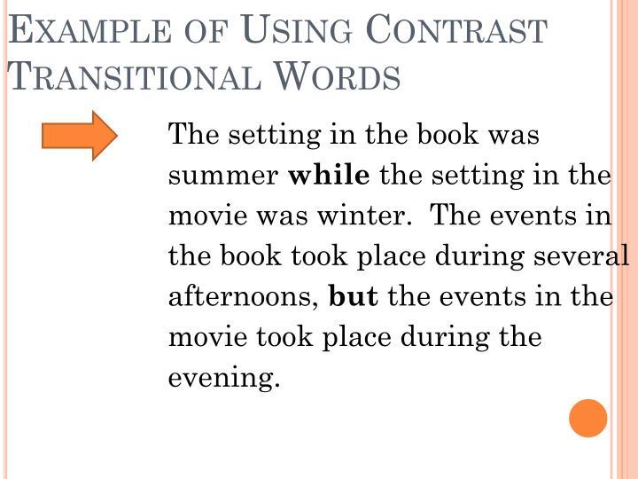 transitional phrases comparison contrast essays
