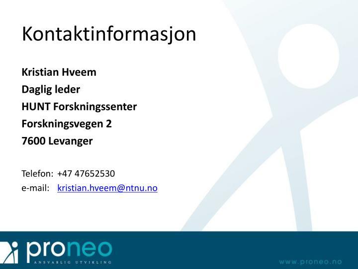 Kontaktinformasjon