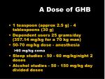 a dose of ghb