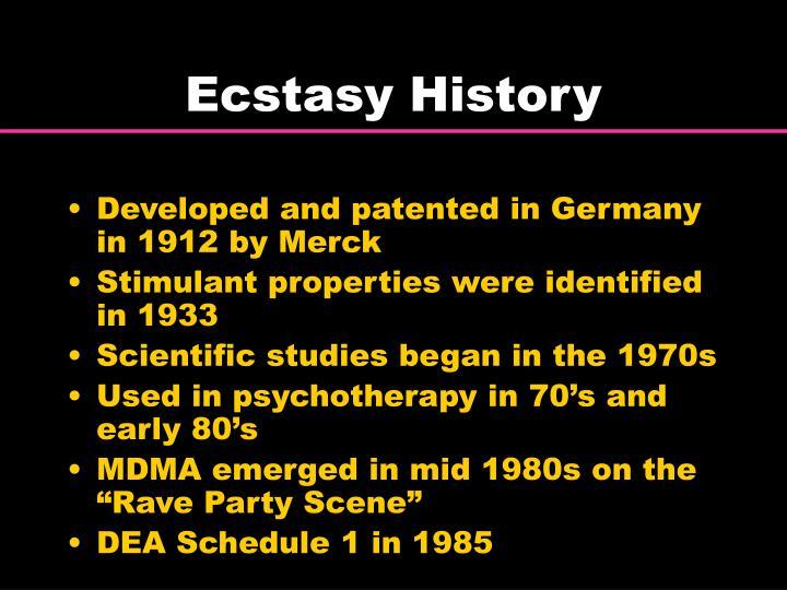 Ecstasy History