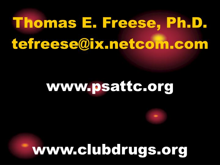 Thomas E. Freese, Ph.D.