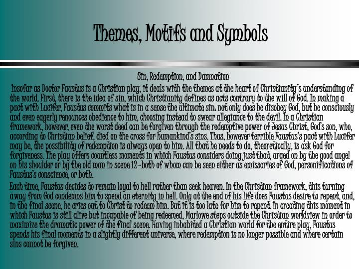 Themes, Motifs and Symbols