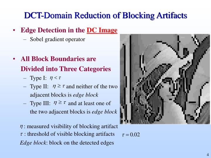DCT-Domain Reduction of Blocking Artifacts