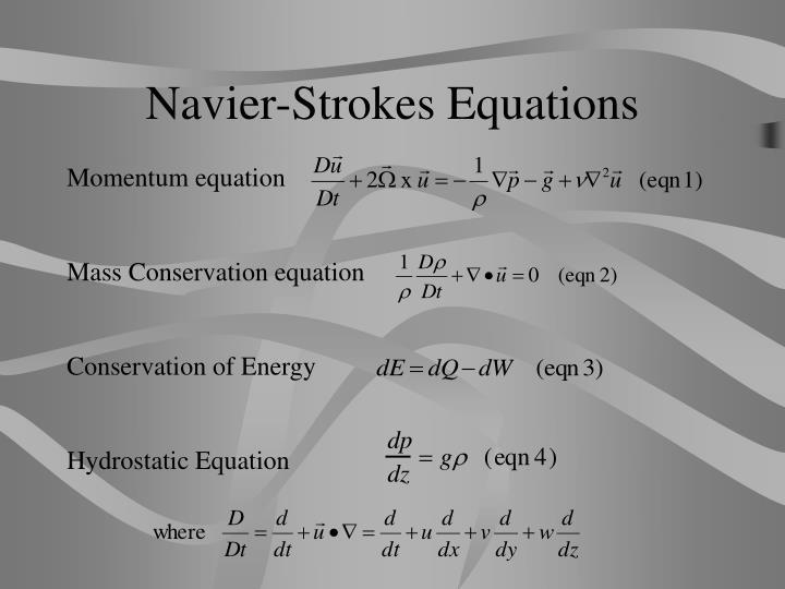 Navier-Strokes Equations