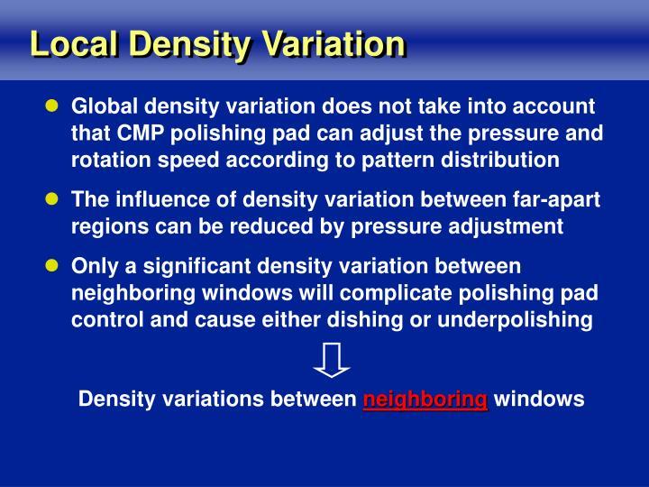 Local Density Variation
