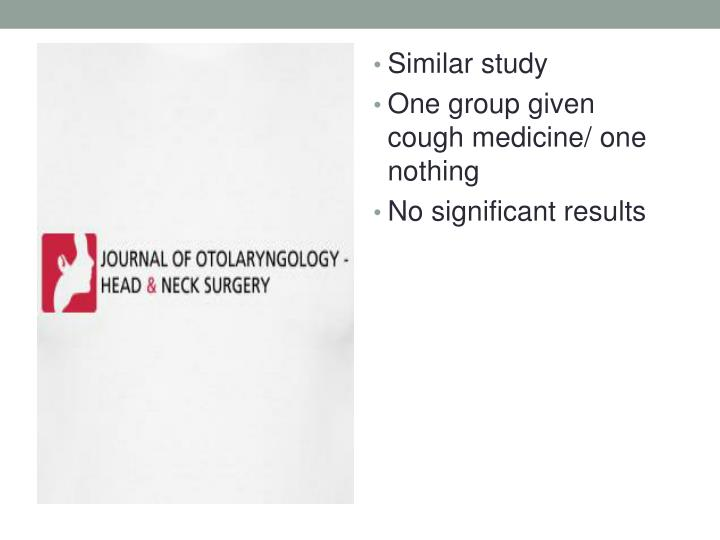 Similar study