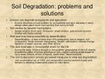 soil degradation problems and solutions