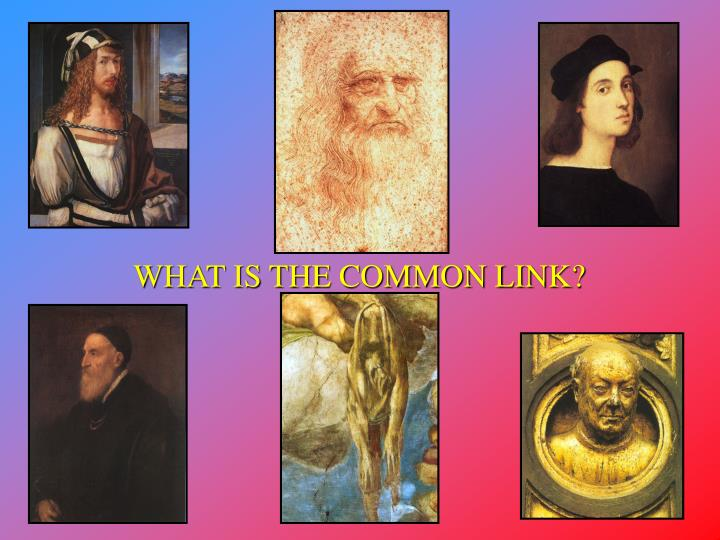 WHAT IS THE COMMON LINK?